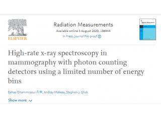 Radiation Measurement -基于有限能窗数光子计数型探测器的高速率X射线乳腺光谱成像
